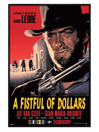 Gloss Black Framed Sergio Leone Classic - A Fistful of Dollars