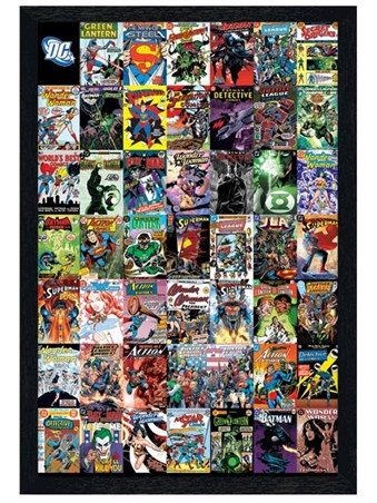 Black Wooden Framed The World's Greatest Super Heroes - DC Comics