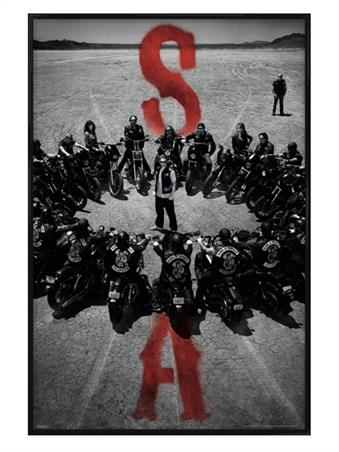 Gloss Black Framed Bike Circle - Sons of Anarchy