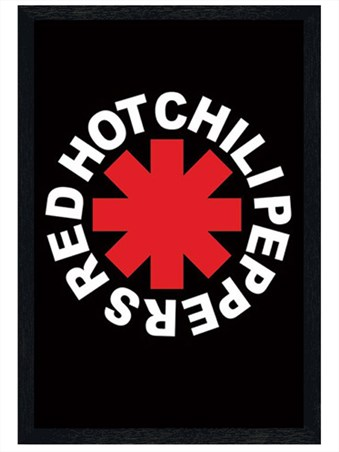 Black Wooden Framed RHCP Logo - Red Hot Chilli Peppers