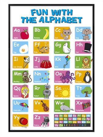 Gloss Black Framed Learn the Alphabet - Educational Letter Fun