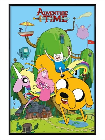 Gloss Black Framed Finn & Friends - Adventure Time