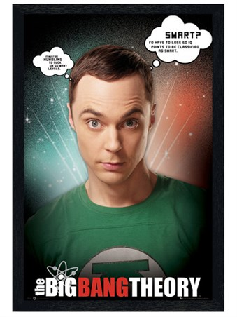 Black Wooden Framed Sheldon Quotes - The Big Bang Theory