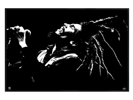 Framed Gloss Black Framed King of Dreads - Bob Marley