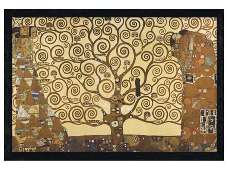 Black Wooden Framed The Tree Of Life, Stoclet Frieze (1909) - Gustav Klimt