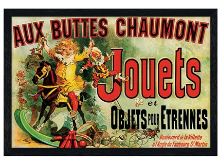 Black Wooden Framed Jouets - Vintage Advertising Poster
