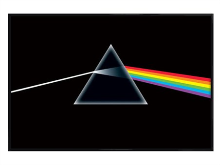 Gloss Black Framed The Dark Side Of The Moon, Pink Floyd