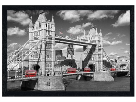 Black Wooden Framed Traffic on Tower Bridge - Images of London