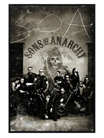 Gloss Black Framed Vintage Bikers - Sons of Anarchy