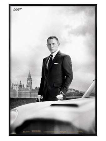 Gloss Black Framed Smooth, Suave & Sophisticated - Daniel Craig is James Bond