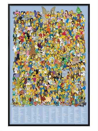 Gloss Black Framed The Cast 2012 - The Simpsons