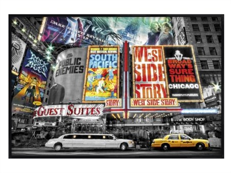 Gloss Black Framed On Broadway - The Theatre Signs of New York City