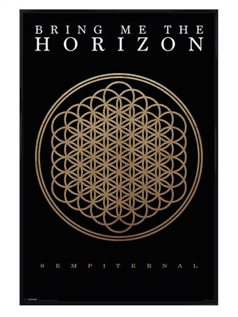 Gloss Black Framed Sempiternal Album Art, Bring Me The Horizon