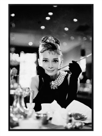 Gloss Black Framed Holly Golightly, Breakfast At Tiffany's