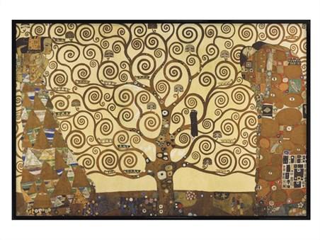 Gloss Black Framed The Tree Of Life, Stoclet Frieze - Gustav Klimt
