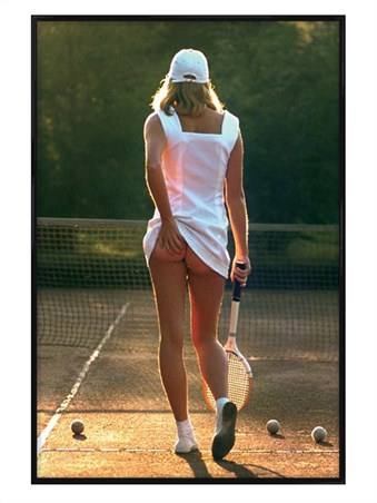 Framed Gloss Black Framed Tennis Girl - Martin Elliott
