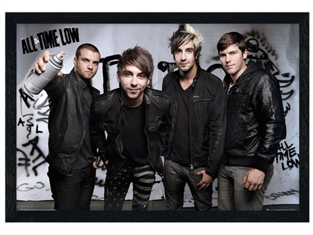 Black Wooden Framed Spray - All Time Low
