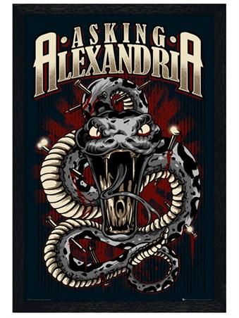 Black Wooden Framed Snake - Asking Alexandria