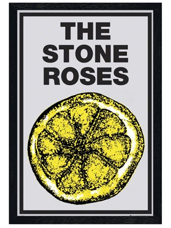 Black Wooden Framed Lemon - The Stone Roses