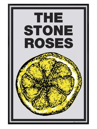 Gloss Black Framed Lemon - The Stone Roses