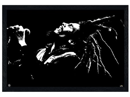 Framed Black Wooden Framed King of Dreads - Bob Marley