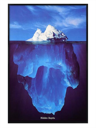 Gloss Black Framed Iceberg - Hidden Depths