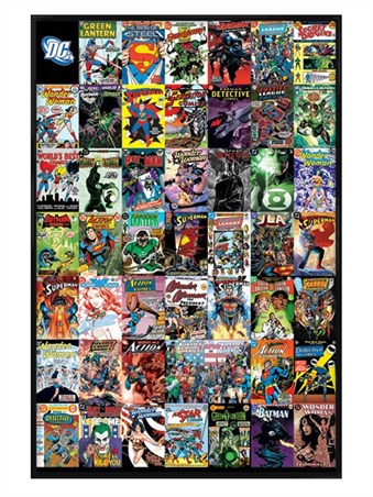 Gloss Black Framed World's Greatest Superheroes - DC Comics