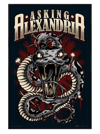 Gloss Black Framed Snake - Asking Alexandria
