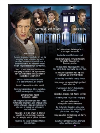Gloss Black Framed Everything I Know - Doctor Who