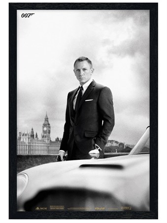 Black Wooden Framed Smooth, Suave & Sophisticated - Daniel Craig is James Bond