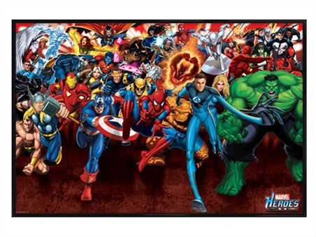 Gloss Black Framed Attack! - Marvel Heroes