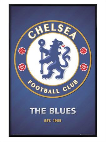 Gloss Black Framed The Blues Club Crest - Chelsea Football Club