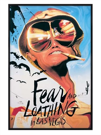 Gloss Black Framed Johnny Depp - Fear And Loathing In Las Vegas