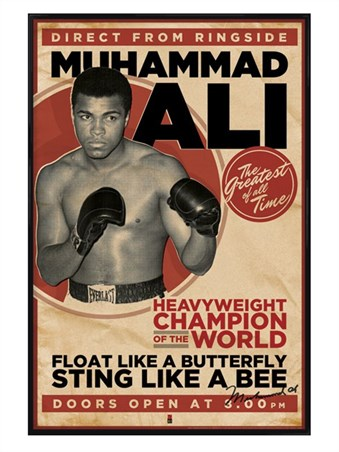 Gloss Black Framed Heavyweight Champion of the World - Muhammad Ali