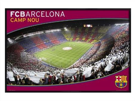 Gloss Black Framed Camp Nou - Barcelona F.C.