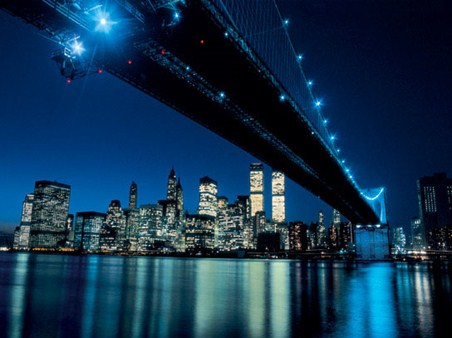 Iconic Brooklyn Bridge At Night - Henri Silberman