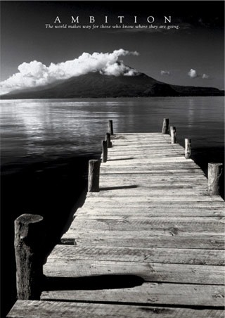 Black & White Jetty - Ambition, Aspirational