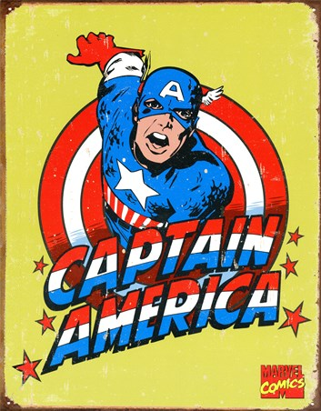 Retro Captain America - Marvel Comics