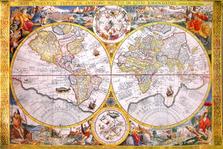 Antique Cartography - Vintage World Map