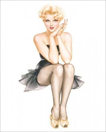 Blonde in Black Dress - Varga Girls