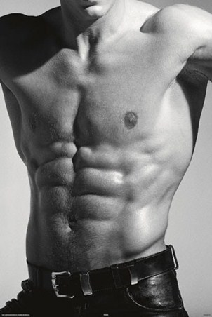 Tantalising Torso - Buff in Black and White