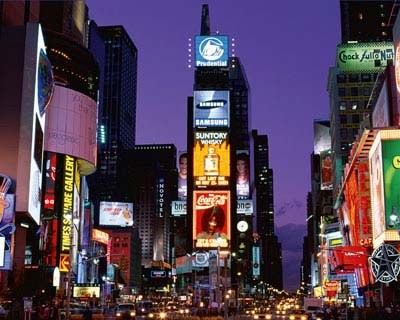 Times Square at Night - New York City