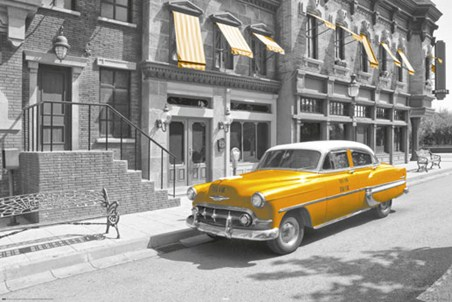 Taxi! - Yellow Cab In Manhattan