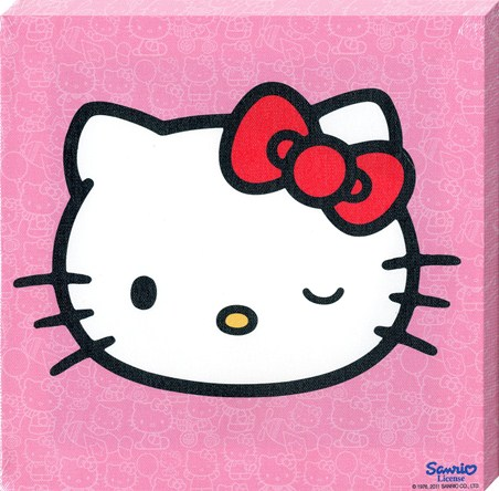 Cheeky Little Cat, Hello Kitty Canvas Print - PopArtUK