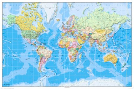 World Map - Physical Map