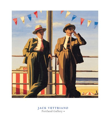 Seaside Sharks - Jack Vettriano