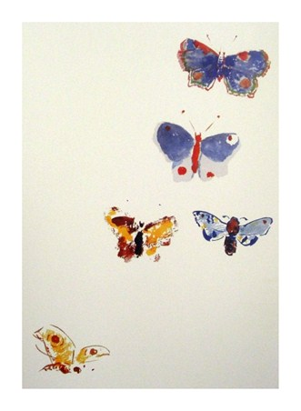 Five Butterflies - Odilon Redon