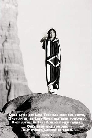 Cree Indian Prophecy - Native American Woman