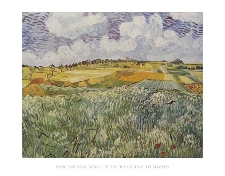 Framed Plains Near Auvers - Vincent Van Gogh