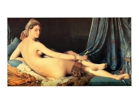Framed La Grande Odalisca - J. A. Dominique Ingres